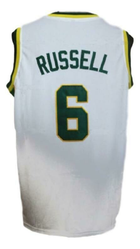Bill Russell #6 College Basketball Jersey Sewn White