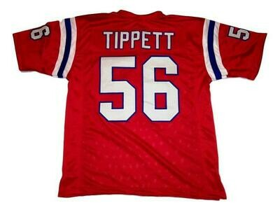 Andre Tippett CUSTOM STITCHED Unsigned Football Jersey Red