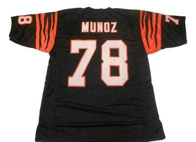 Anthony Munoz CUSTOM STITCHED Unsigned Football Jersey Black