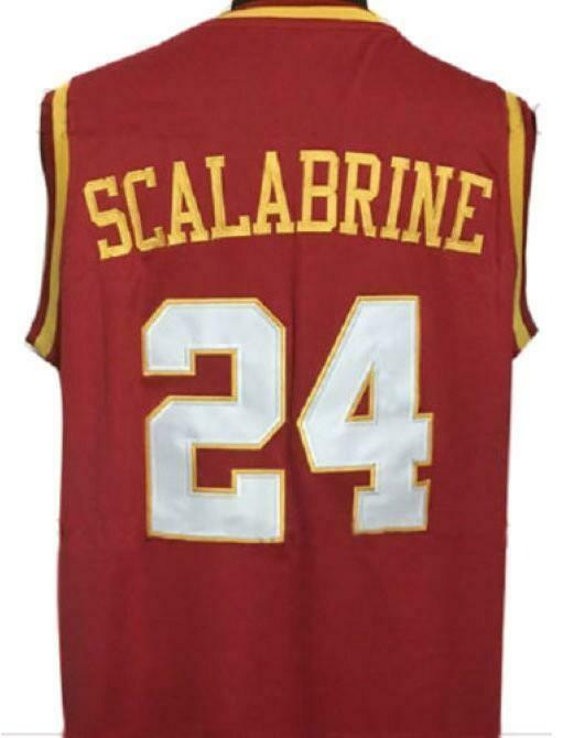 Brian Scalabrine College Basketball Jersey Sewn Maroon