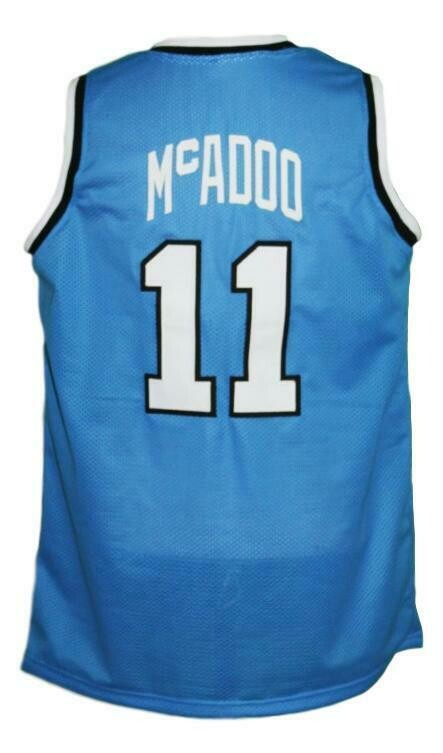 Bob McAdoo #11 Custom College Basketball Jersey New Sewn Blue