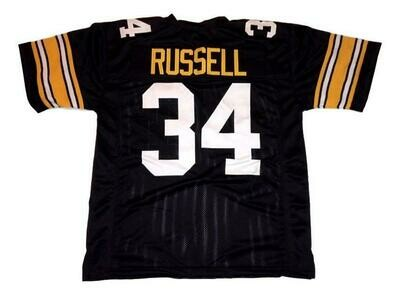 Andy Russell CUSTOM STITCHED Unsigned Football Jersey Black
