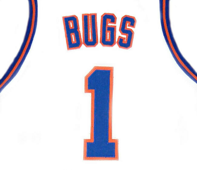 Bugs Bunny #1 Tune Squad Space Jam Movie Basketball Jersey White
