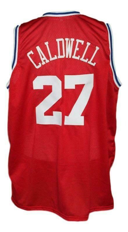Caldwell Jones #27 Aba East Basketball Jersey New Sewn Red