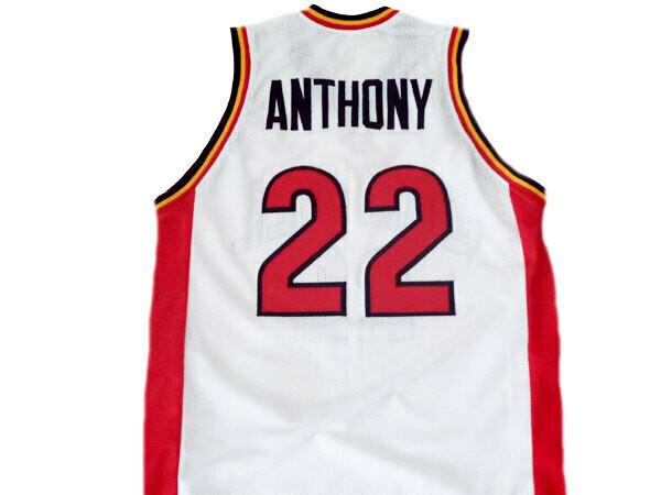 Carmelo Anthony #22 Oak Hill High School Basketball Jersey White