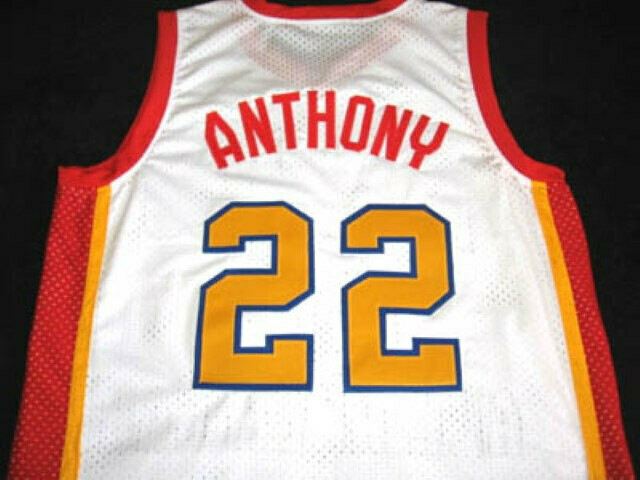 Carmelo Anthony #22 McDonald's All American Basketball Jersey White