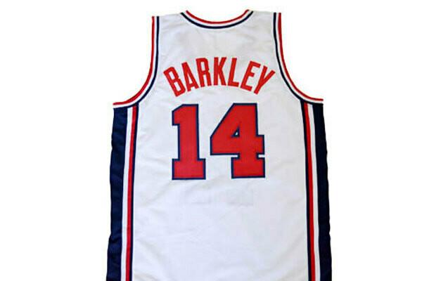 Charles Barkley #14 Team USA Basketball Jersey White