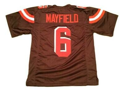 Baker Mayfield CUSTOM STITCHED Unsigned Football Jersey Brown