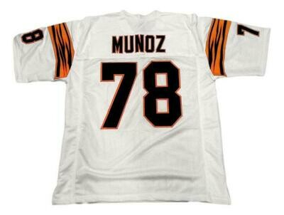 Anthony Munoz CUSTOM STITCHED Unsigned Football Jersey White