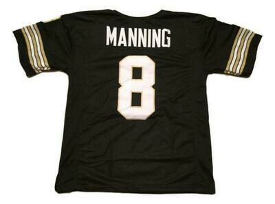 Archie Manning CUSTOM STITCHED Unsigned Football Jersey Black