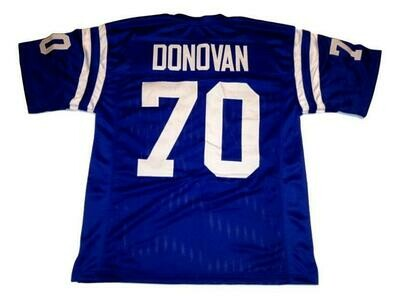 Art Donovan CUSTOM STITCHED Unsigned Football Jersey Blue