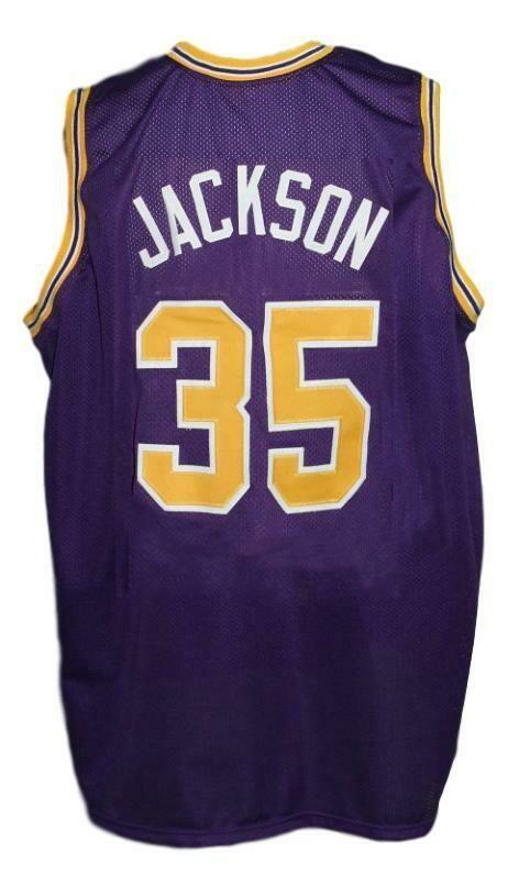 Chris Jackson #35 College Basketball Jersey New Sewn Purple
