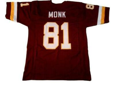 Art Monk CUSTOM STITCHED Unsigned Football Jersey Maroon