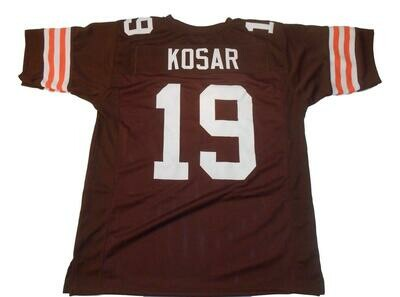 Bernie Kosar CUSTOM STITCHED Unsigned Football Jersey Brown