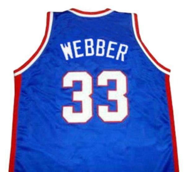 Chris Webber McDonald's All American Basketball Jersey Sewn Blue