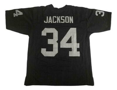 Bo Jackson CUSTOM STITCHED Unsigned Football Jersey Black
