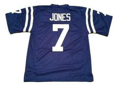Bert Jones CUSTOM STITCHED Unsigned Football Jersey Blue
