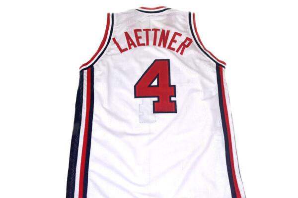 Christian Laettner #4 Team USA Basketball Jersey White