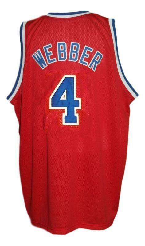 Chris Webber #4 Washington Retro Basketball Jersey Sewn Red