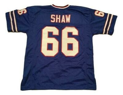 Billy Shaw CUSTOM STITCHED Unsigned Football Jersey Blue