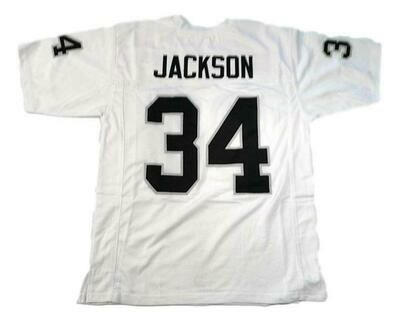 Bo Jackson CUSTOM STITCHED Unsigned Football Jersey White