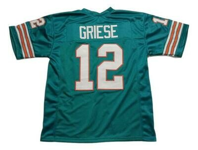 Bob Griese CUSTOM STITCHED Unsigned Football Jersey Teal Green