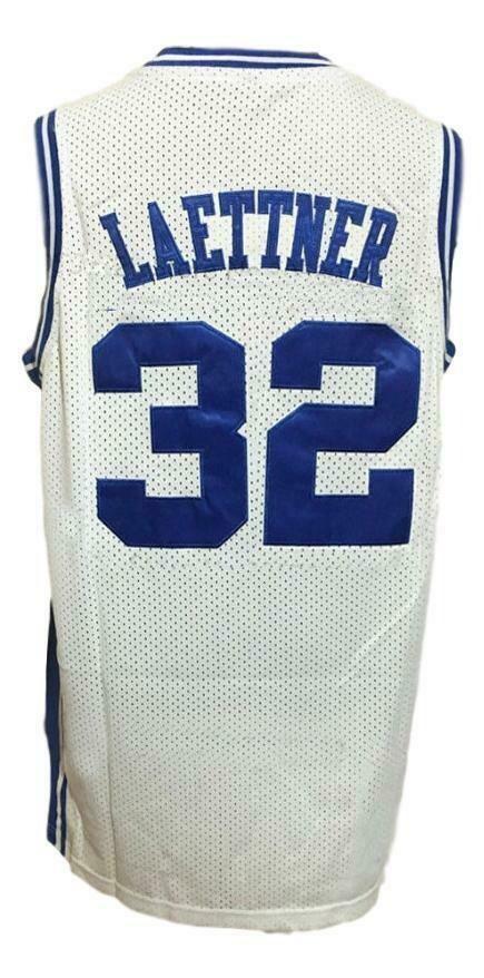 Christian Laettner #32 College Basketball Jersey Sewn White