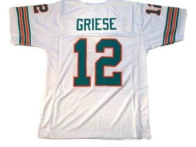Bob Griese CUSTOM STITCHED Unsigned Football Jersey White