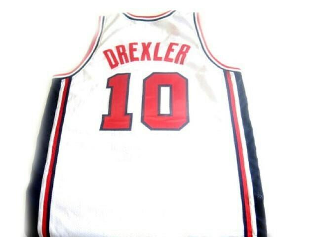 Clyde Drexler #10 Team USA Basketball Jersey White