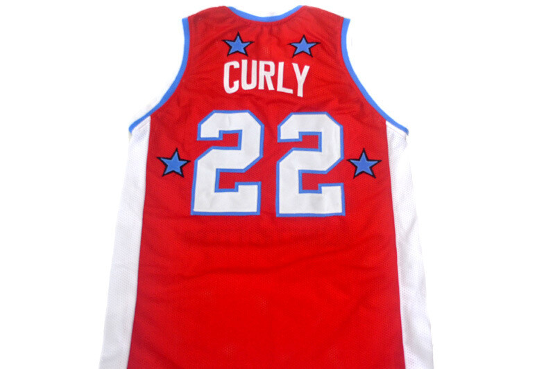 Curly #22 Harlem Globetrotters Basketball Jersey Red