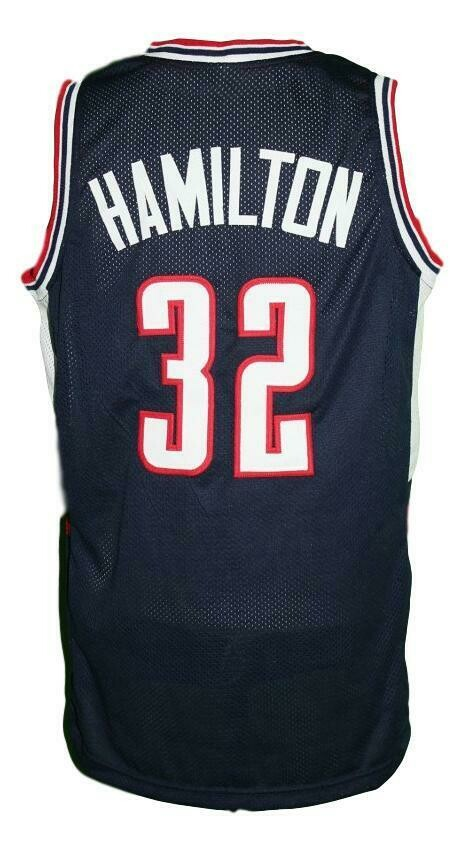 Daniel Hamilton #32 College Basketball Jersey Sewn Navy Blue