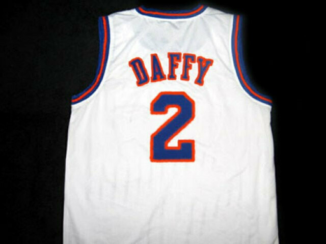 Daffy Duck #2 Tune Squad Space Jam Basketball Jersey White