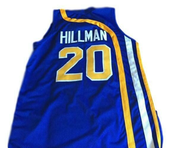 Darnell Hillman #20 Indiana Aba Retro Basketball Jersey New Sewn Blue