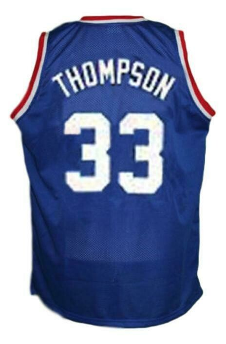 David Thompson #33 Denver Aba Retro Basketball Jersey New Sewn Blue