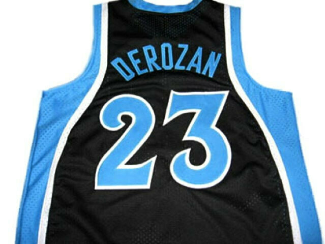Demar Derozan #23 Compton High School Basketball Jersey Black
