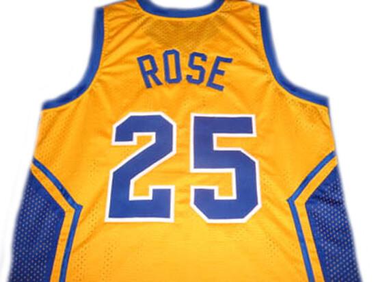 Derrick Rose #25 Simeon High School Basketball Jersey Yellow
