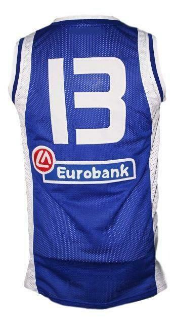 Dimitris Diamantidis #13 Greece Custom Basketball Jersey Blue