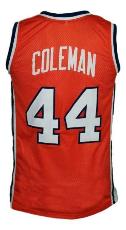 Derrick Coleman #44 Custom College Basketball Jersey Orange
