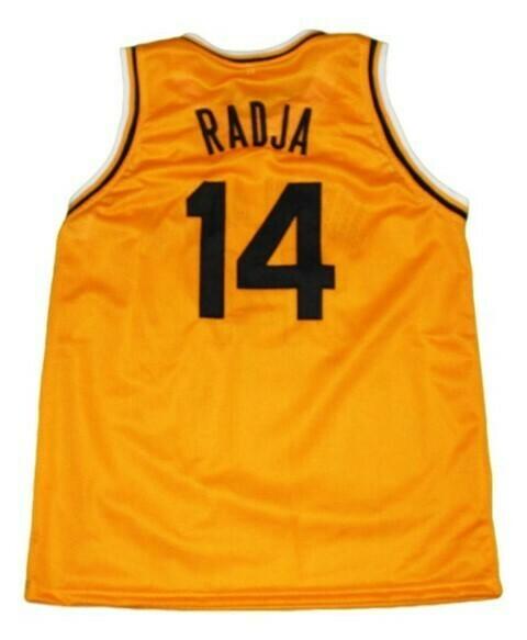 Dino Radja #14 Jugoplastika Yugoslavia Basketball Jersey Yellow