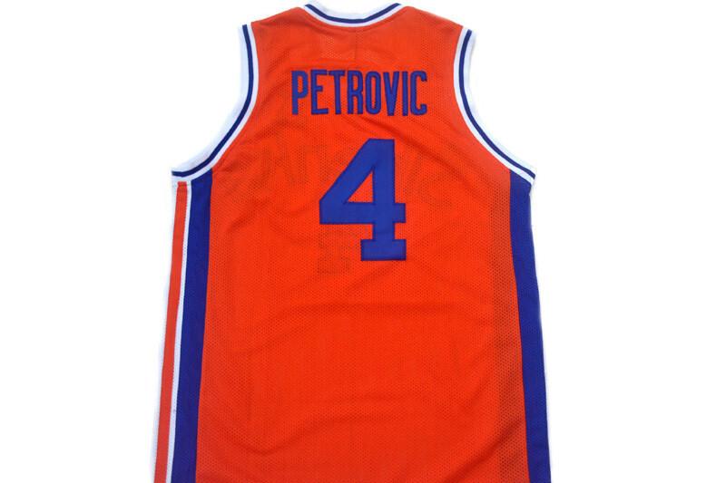 Drazen Petrovic #4 Sibenka Croatia Basketball Jersey Orange