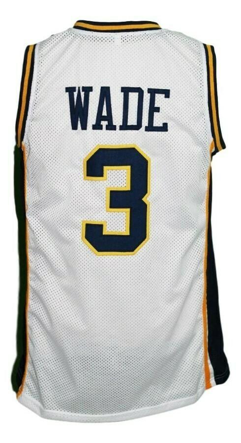 Dwyane Wade #3 College Basketball Jersey White