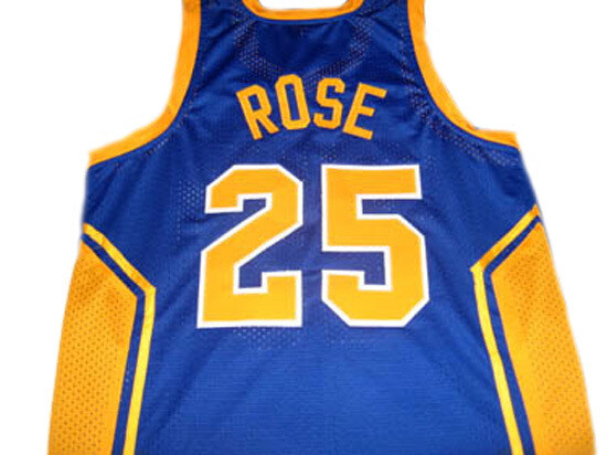 Derrick Rose #25 Simeon High School Basketball Jersey Blue