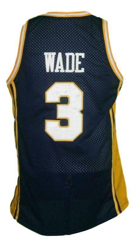 Dwyane Wade #3 College Basketball Jersey Navy Blue