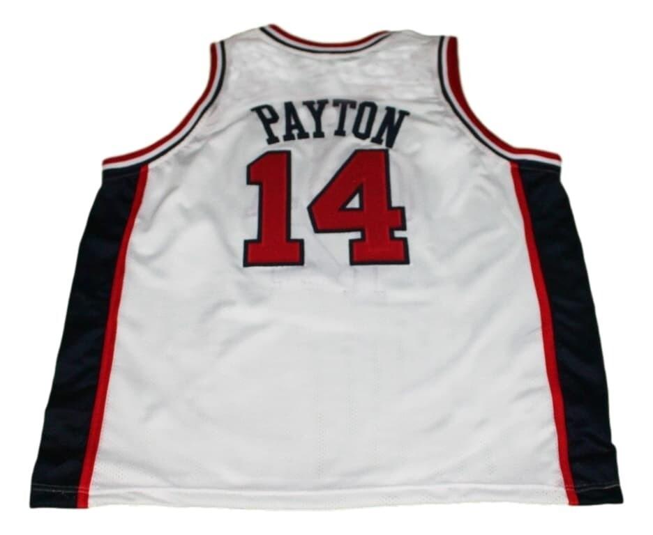 Gary Payton #14 Team USA Basketball Jersey White