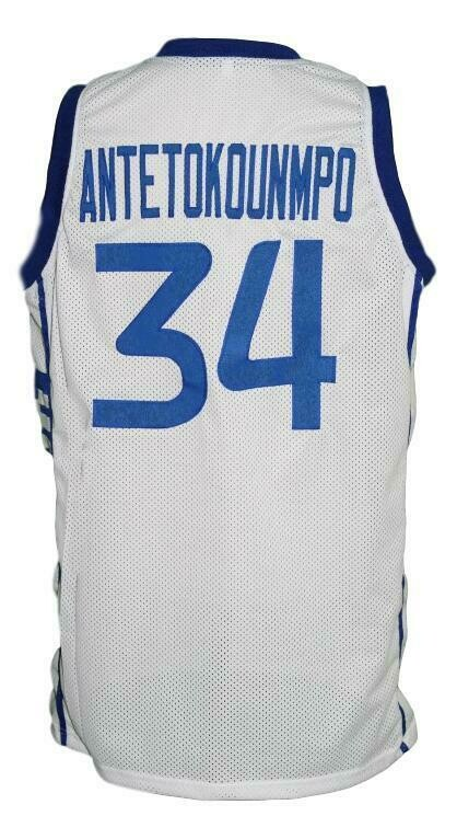 Giannis Antetokounmpo #34 Greece Basketball Jersey White