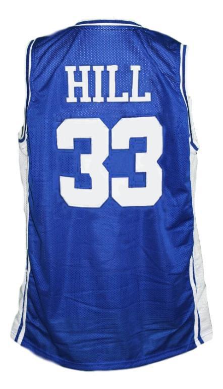 Grant Hill #33 Custom College Basketball Jersey Blue