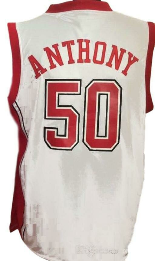 Greg Anthony #50 College Basketball Jersey Sewn White