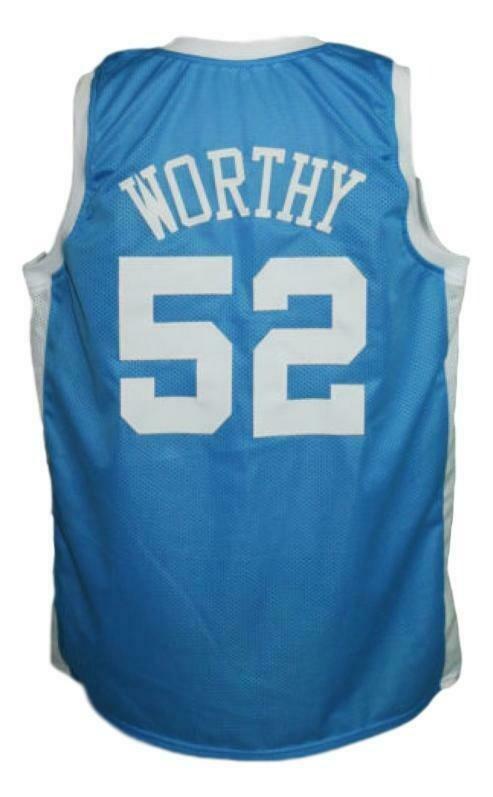 James Worthy #52 College Basketball Jersey Sewn Light Blue