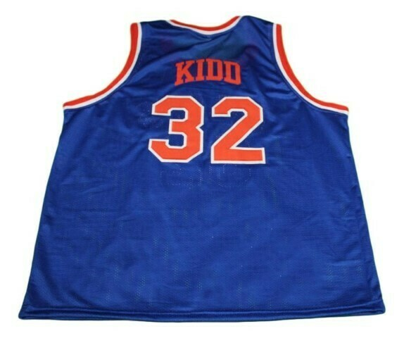 Jason Kidd #32 Pilots High School Basketball Jersey Blue