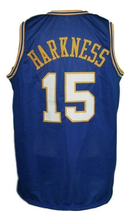 Jerry Harkness #15 Indiana Aba Basketball Jersey Blue